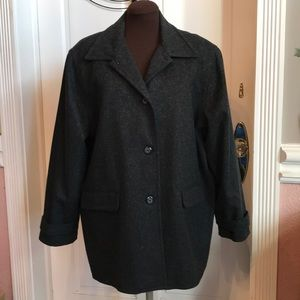 Sag Harbor rich wool blend coat